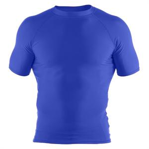Clinch Gear Basic Blue Rashguard - Short Sleeve